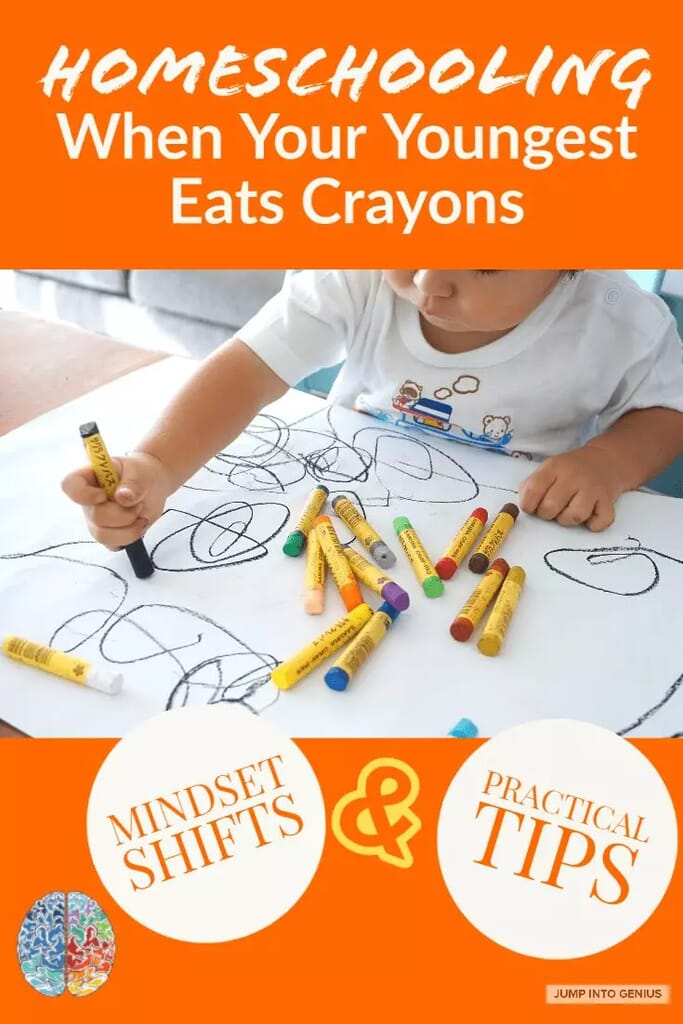Homeschooling When Your Youngest Eats Crayons