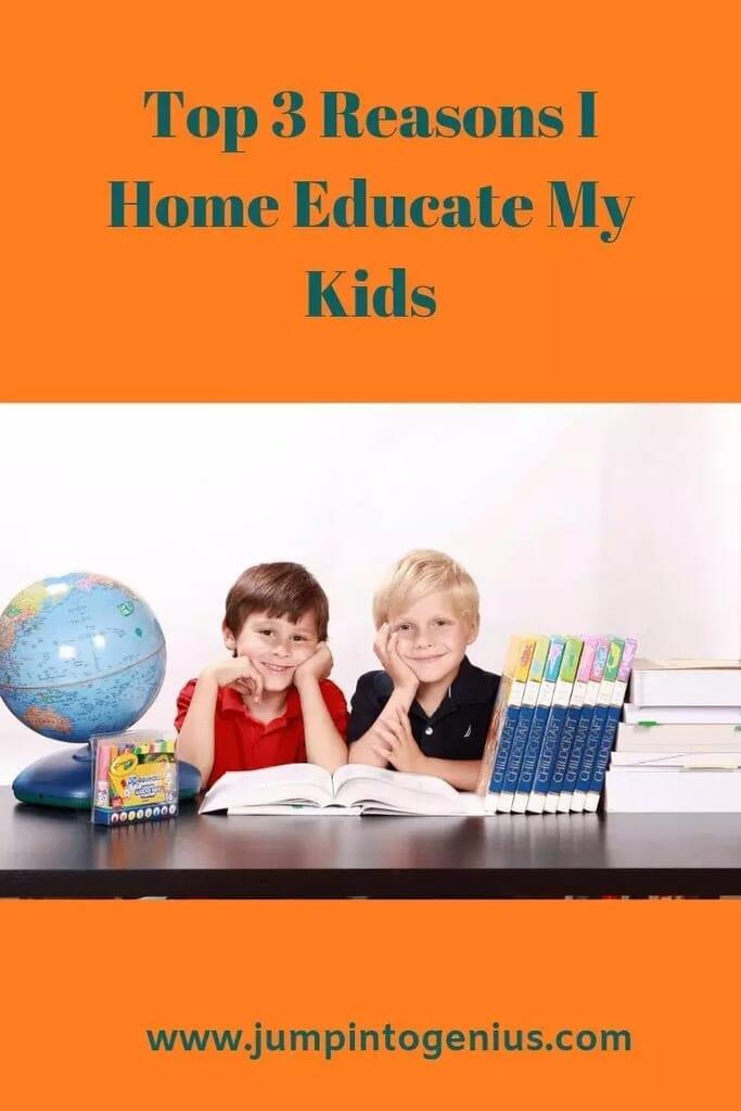 Top 3 Reasons I Home Educate My Kids, Marla Szwast, Jump Into Genius, Homeschool
