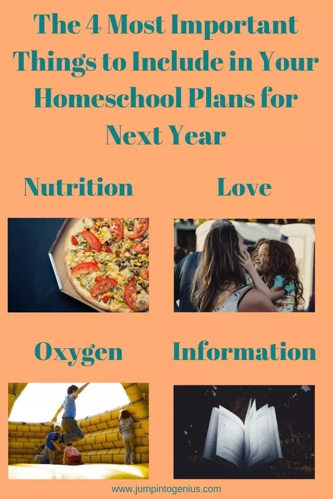 The Four Most Important Things to Include in Your Homeschool Plans for Next Year