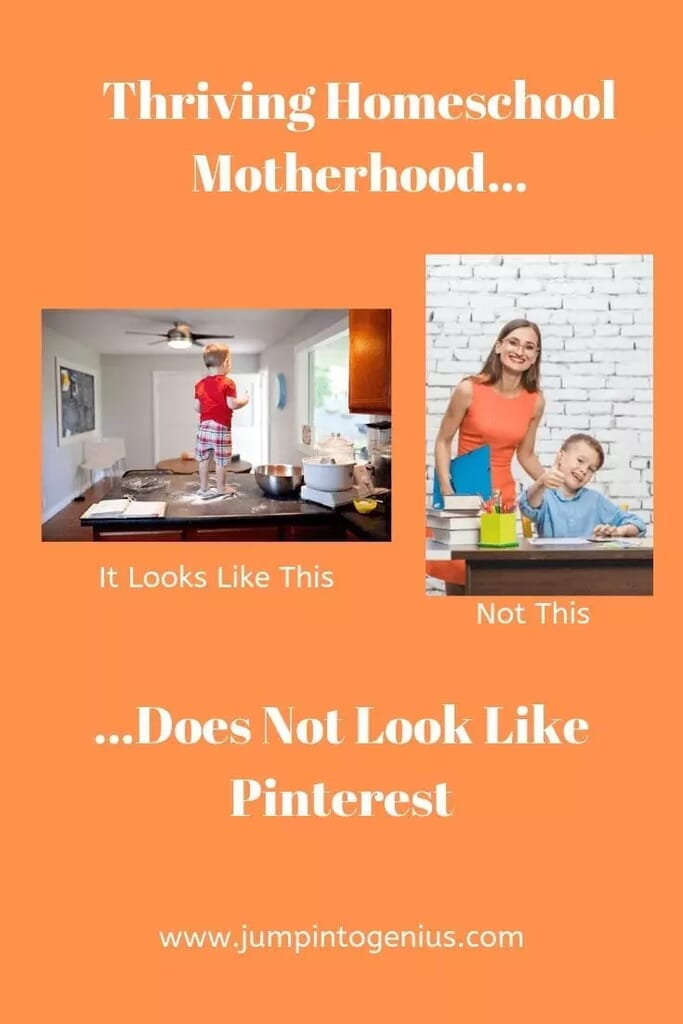 Thriving Homeschool Motherhood Does Not Look Like Pinterest, Marla Szwast, Jump Into Genius, Homeschool