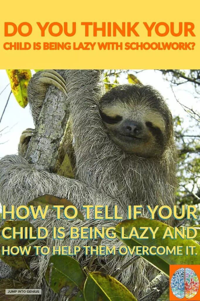 Do you think your child is lazy with schoolwork? How to tell if your child is lazy and how to help them overcome it.