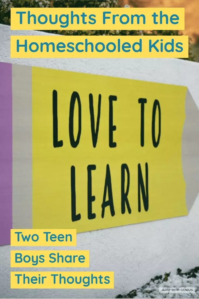 Thoughts From the Homeschooled Kids Two Teen Boys Share their thoughts