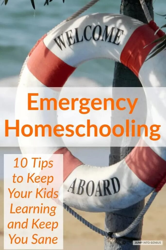 A guide for temporary homeschoolers. Tips for working parents included.
