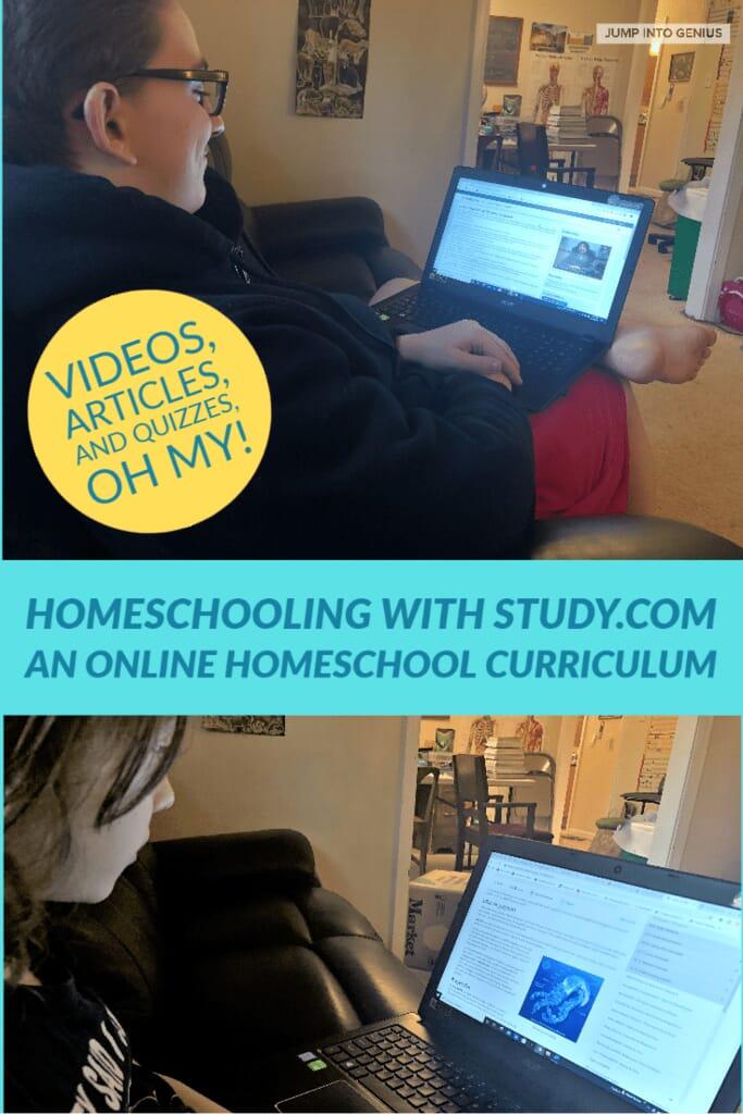 Study.com has a complete online homeschool curriculum for grades 3-12.