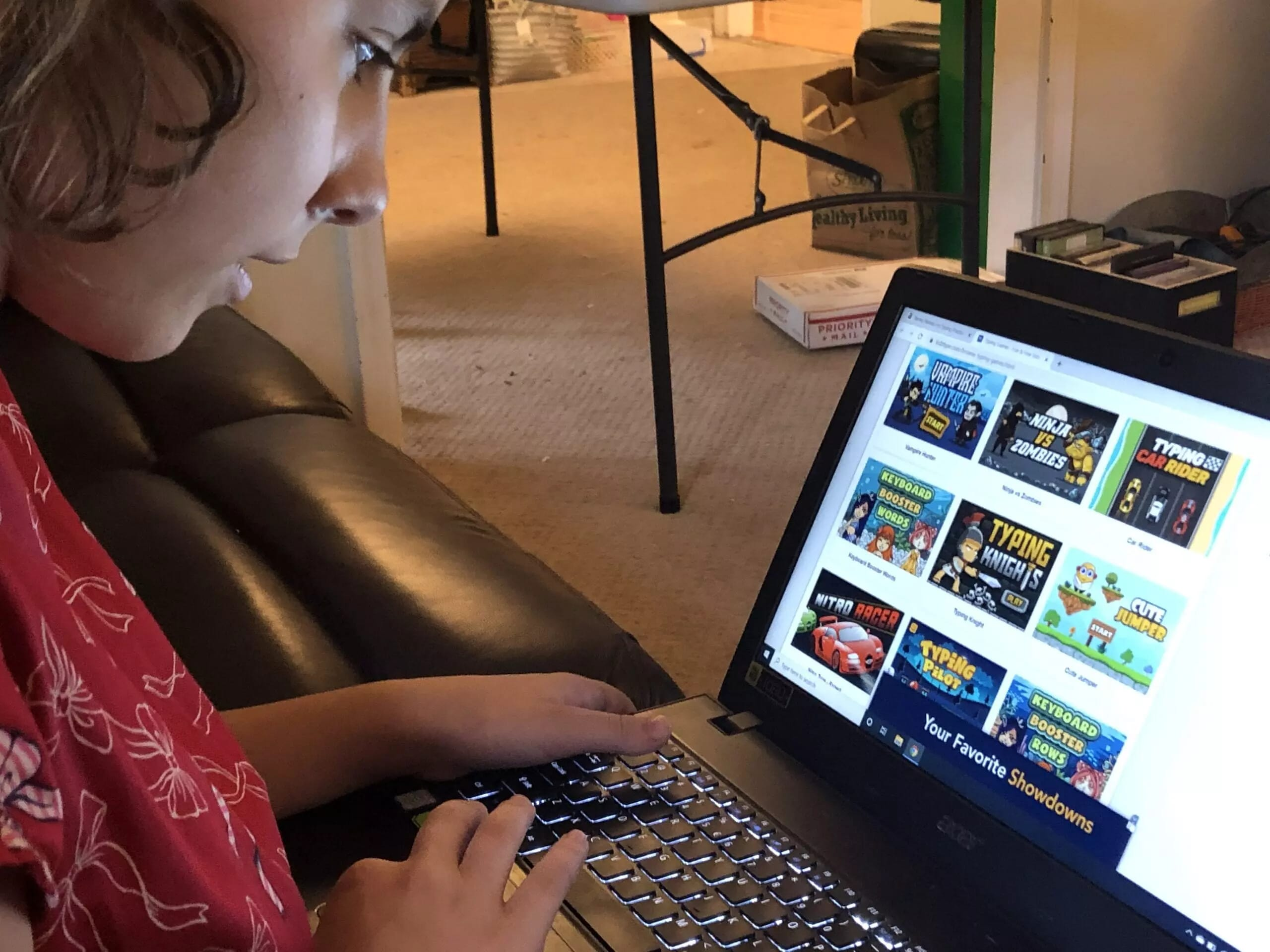 Kidztype.com has several typing games for kids.