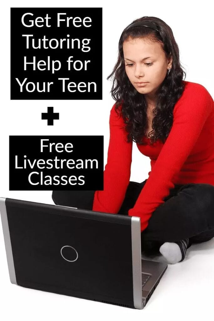 Free tutoring and livestream classes for high school math.