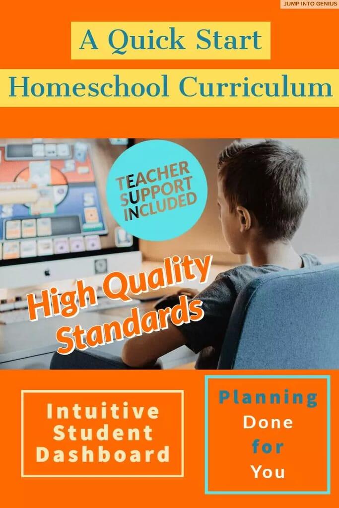 A Quick Start Homeschool Curriculum for new or temporary homeschoolers.
