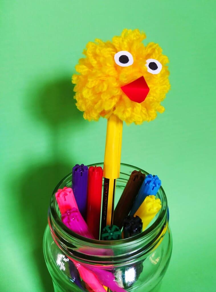 Chicken pencil topper craft.