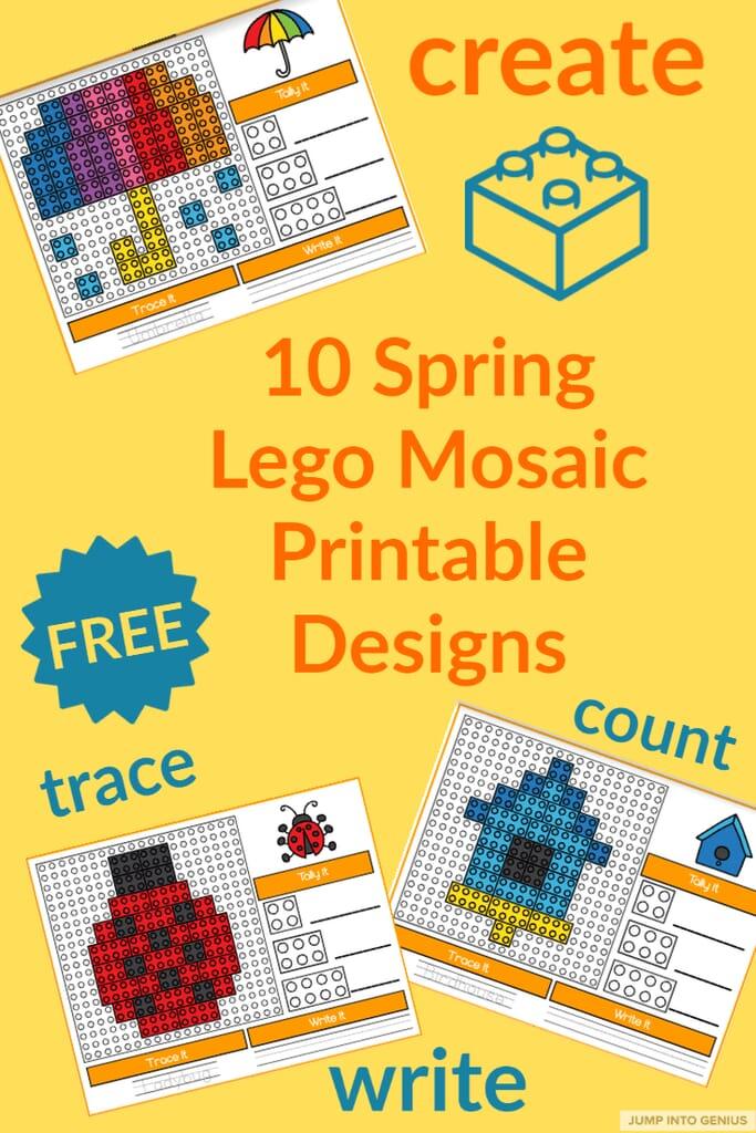 Spring Lego Mosaic Printable