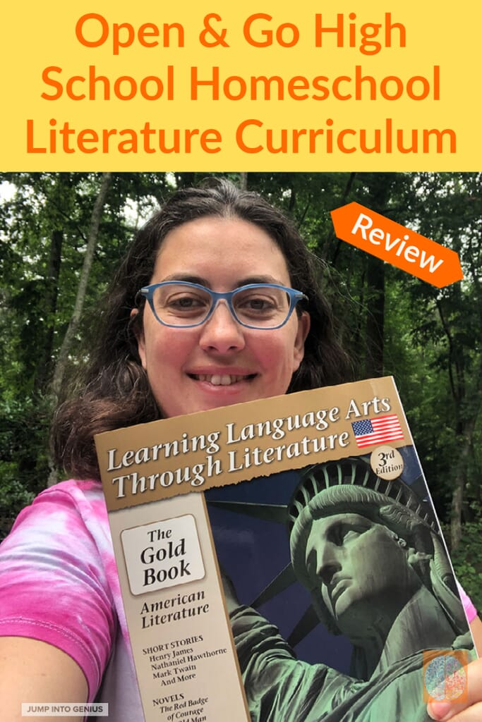 Mom with Learning Language Arts Through Literature Gold American Literature